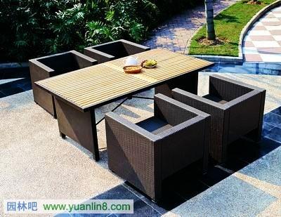 户外桌椅_规划设计_园林吧论坛