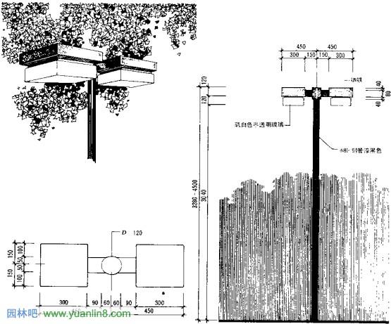 园林小品 景观小品 之绿地灯具设计 多图