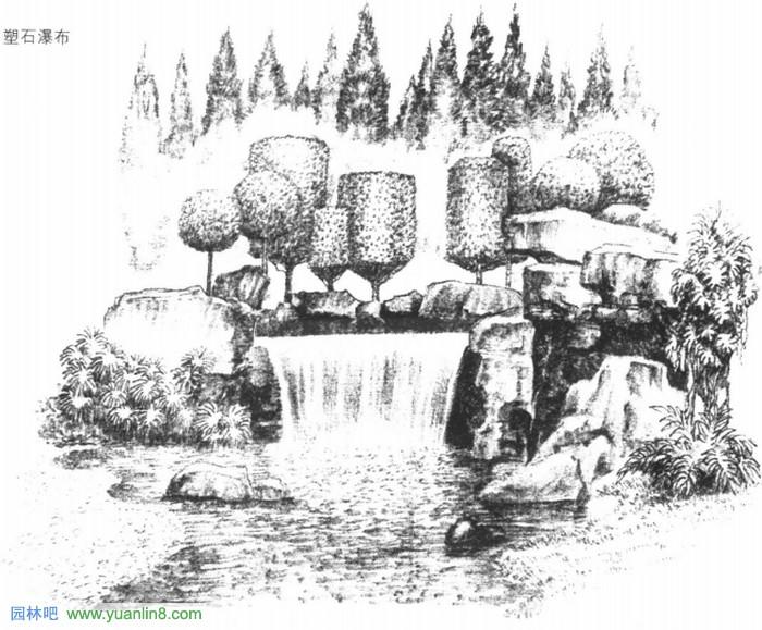 水体手绘表现技法_景观手绘_园林吧论坛