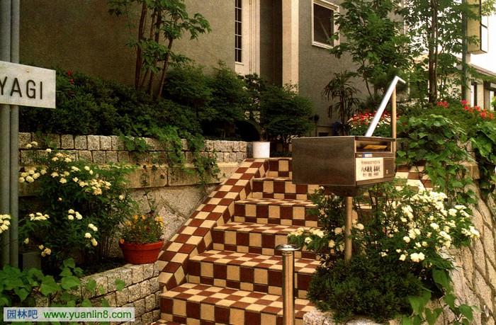 别墅庭院通道设计-西式台阶设计案例赏析