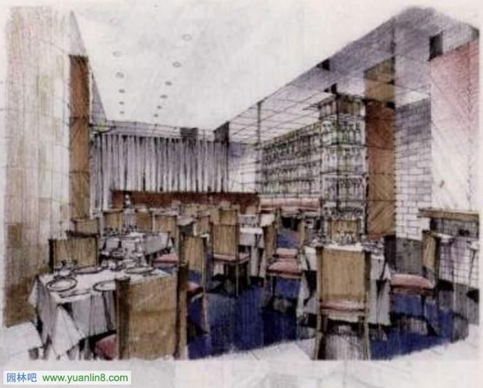 景观 室内 厨房,餐厅,卫生间,客厅 手绘效果图作品鉴赏