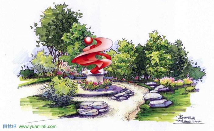 景观设计手绘色彩的构成要素