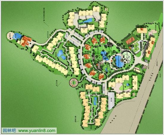 经典园林景观规划设计平面图设计方案 共55张