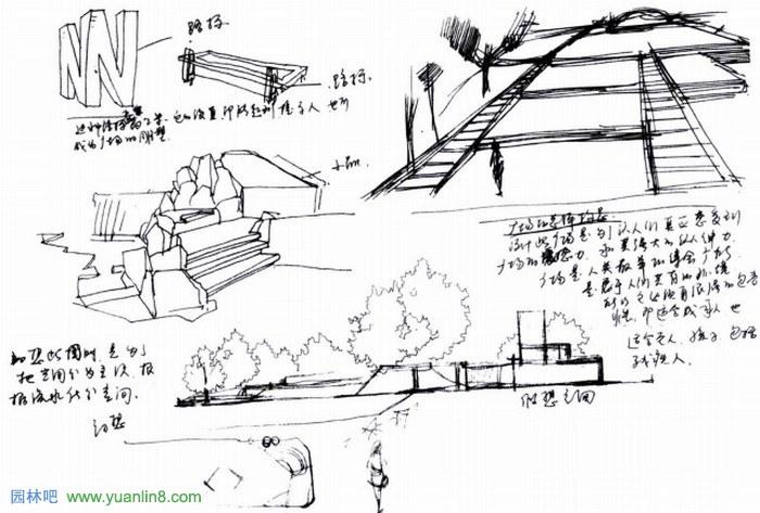 景观手绘表现基础-设计思维与草图表达