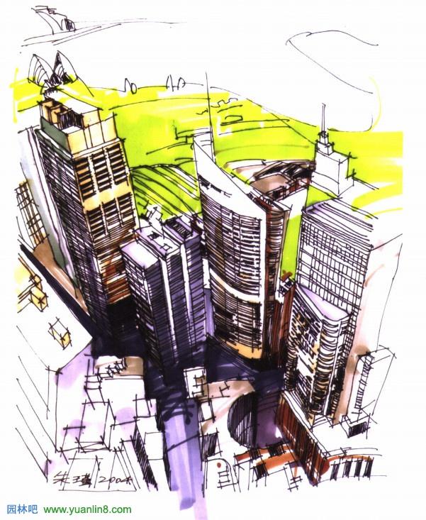 建筑手绘效果图表现之建筑透视图表现技巧