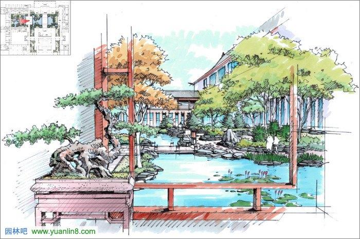 天津世茂生态城酒店景观设计-奥雅