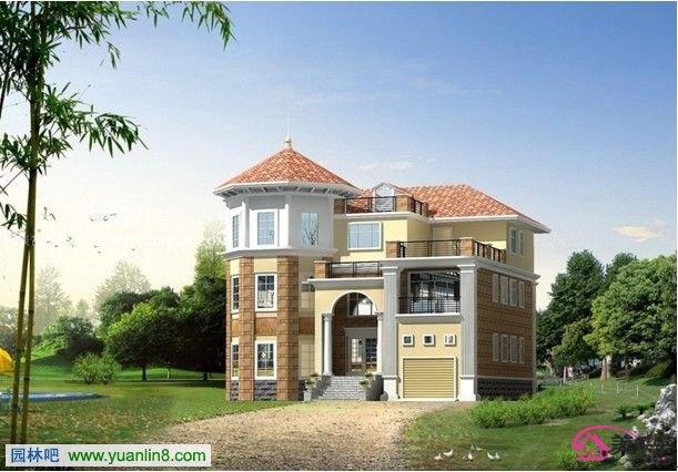 农村两层房屋设计案例 设计效果图