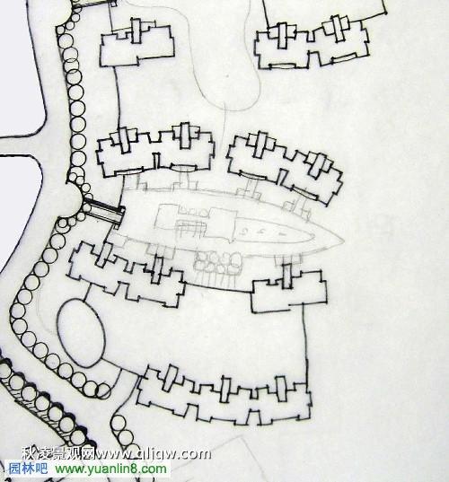 硫酸纸手绘景观设计总平面图全过程,图文教程