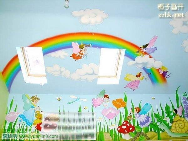 幼儿园室内班级手绘内外墙画