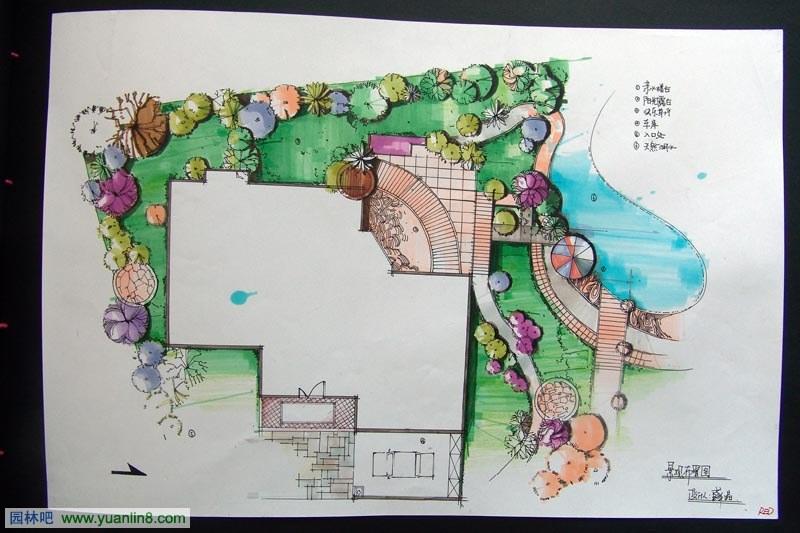 园林景观快题手绘效果图