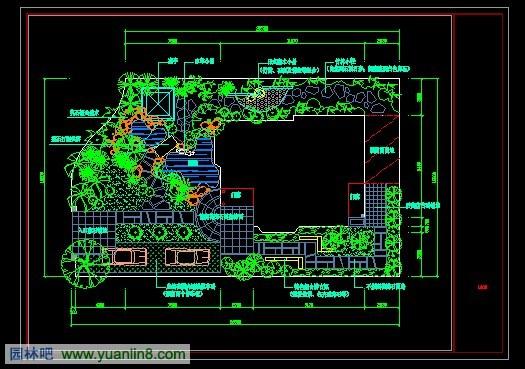 现代别墅庭院设计平面图图片