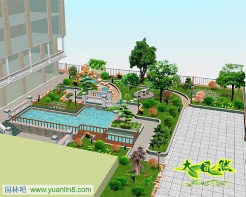 经典欧式庭院景观水景设计案例组图