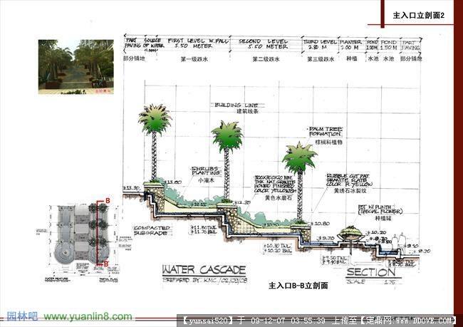 某高档住宅小区一套园林景观设计效果图