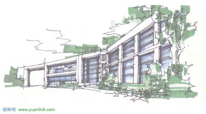 建筑快题表现综合训练,考研快题手绘设计