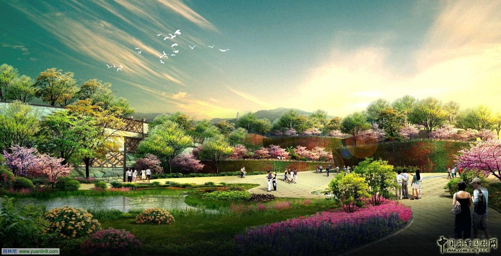 锦绣谷效果图-精品园林奖 北京园博会园区绿化景观及相关设施建设项目