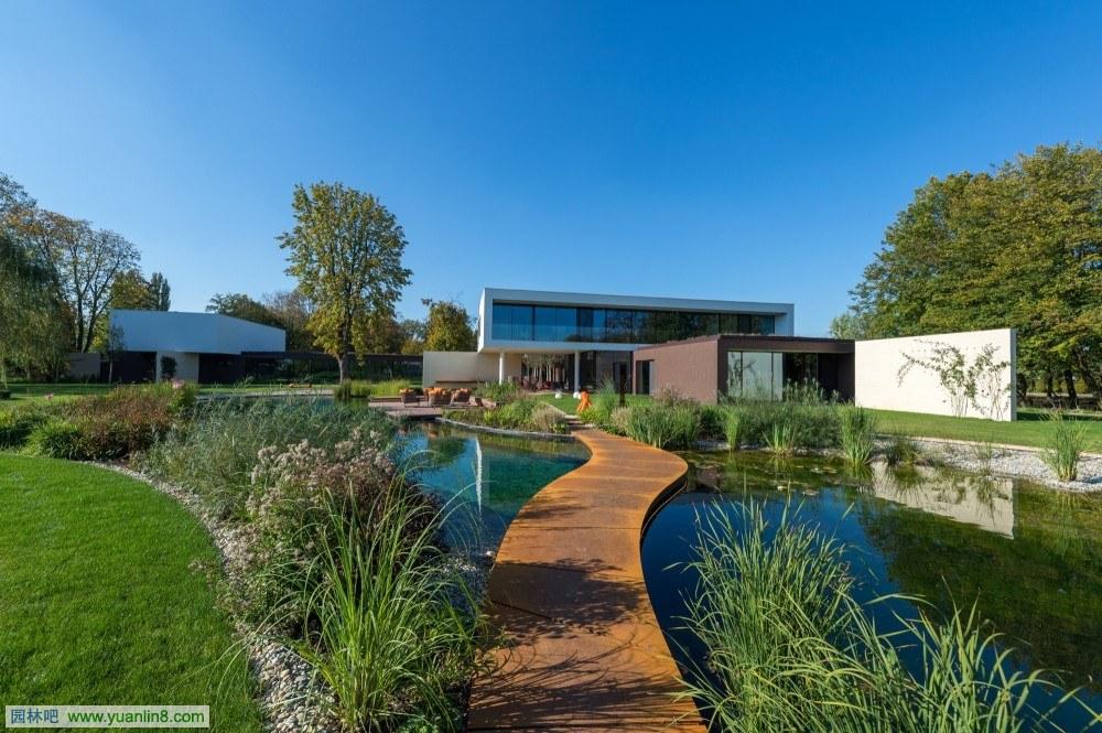 ∏别墅景观设计-园林吧