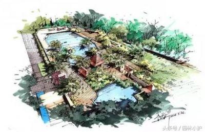 景观手绘_园林景观项目,设计方案,工程案例_园林吧