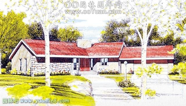 园林吧 规划设计 > 经典别墅手绘效果图  手绘作品  更多 扩展
