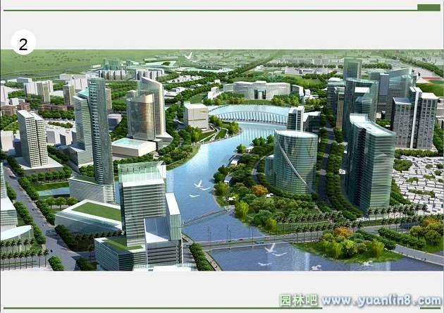 厦门翔安新城城市设计局部效果图