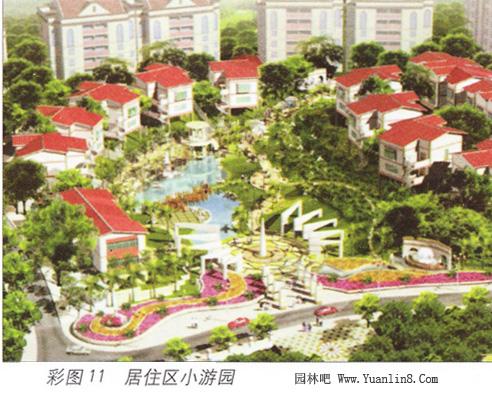 居住小区游园绿地设计,平面布局形式