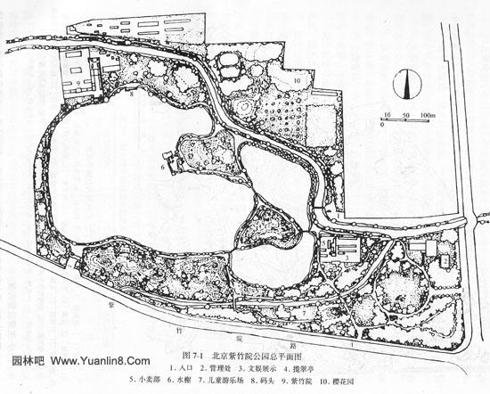 北京紫竹院公园总平面图