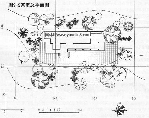 茶室设计总平面图图片 园林建筑设计图总平面图的绘制步骤