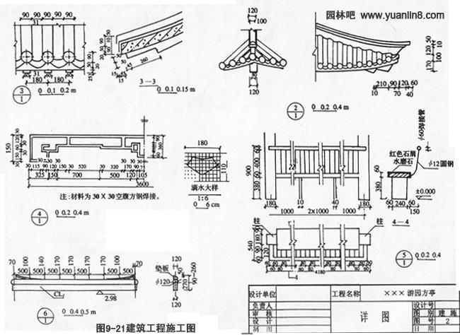 园林建筑施工图及阅读方法(附平立剖详图)