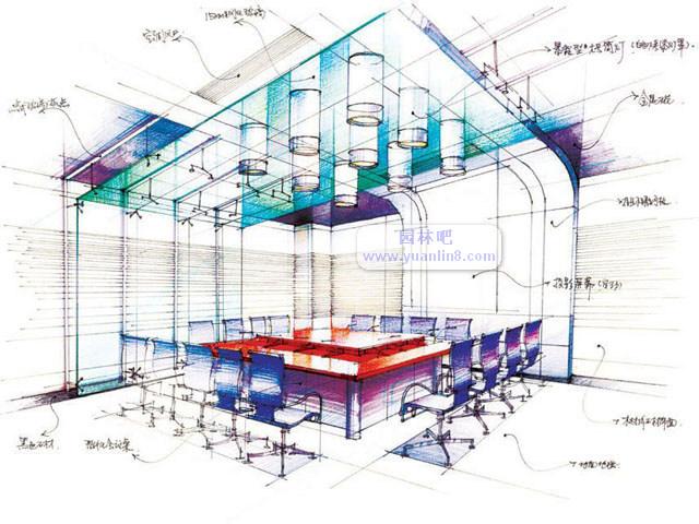 室内绿化设计简单手绘图