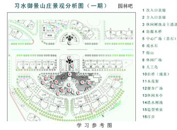 园林设计总平面图是表现规划设计区域范围内的各种造