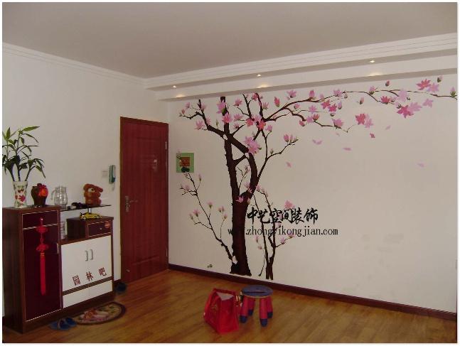 客厅手绘电视墙效果图