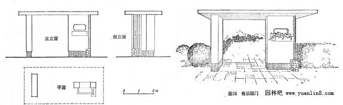 在江南古典园林中,洞门的边框常用青灰色方砖镶砌
