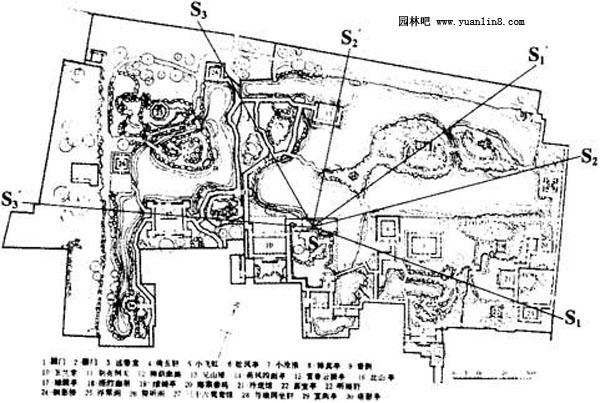 园林小品亭 廓 花架的概念,规划设计 附图例