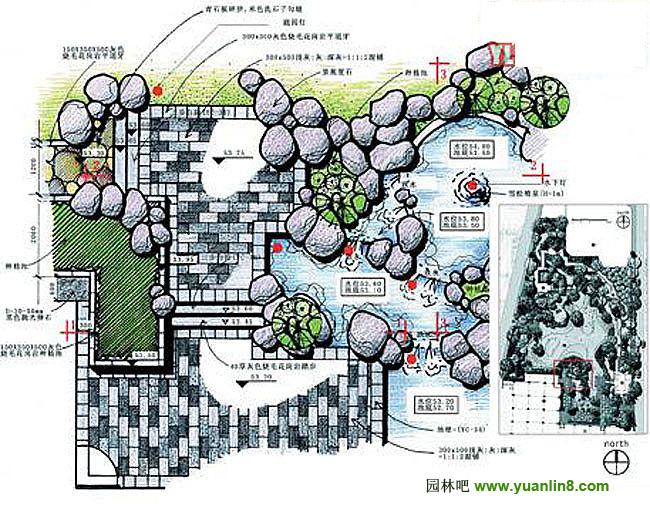 规划设计 > 园林手绘总平面图手绘图集