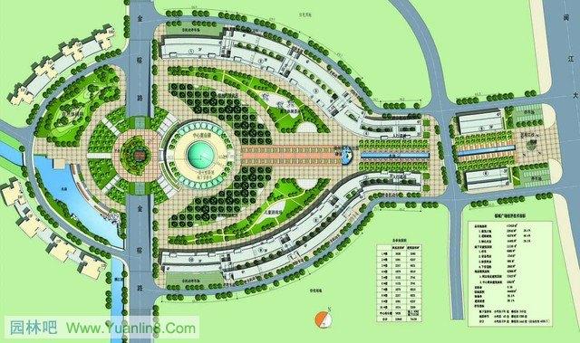 别墅园林设计平面图; 园林景观手绘平面图