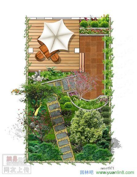 屋顶花园及庭院设计效果图-景观规划