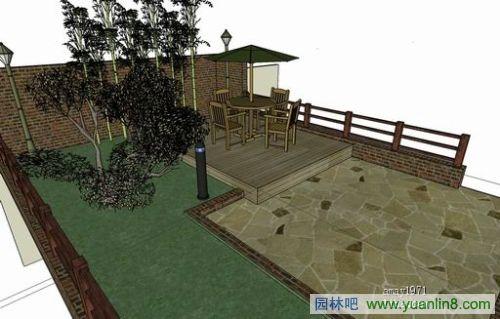屋顶花园及庭院设计效果图图片