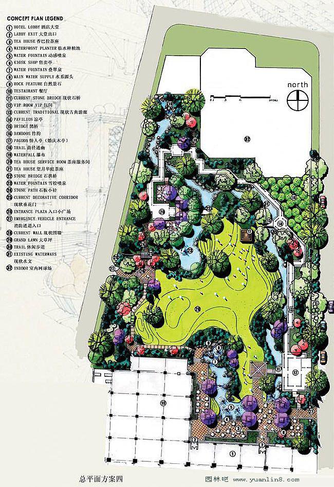 总平面图手绘 公园平面图手绘 手绘平面效果图