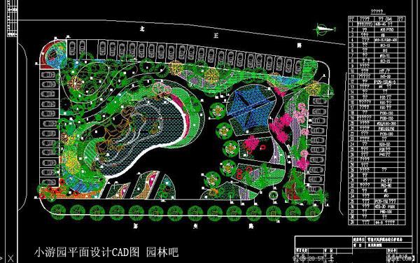 小游园平面设计CAD参考图图片