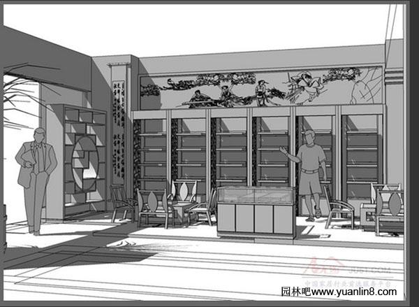 花境设计手绘平面图 拱墅区绿化网