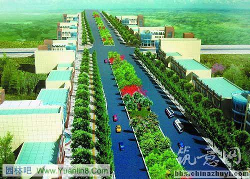 城市道路规划高速城市道路设计效果图 城市道路横断面图