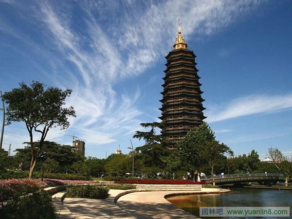 江苏常州红梅公园天宁寺宝塔