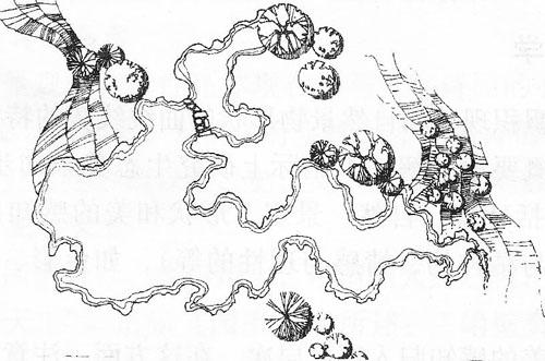 山石水体手绘图