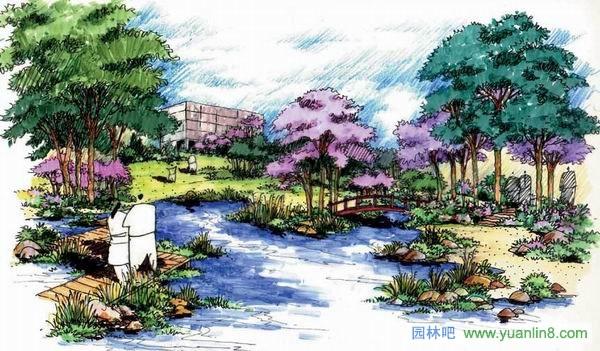 规划设计 > 蓝谷小区手绘作品赏析
