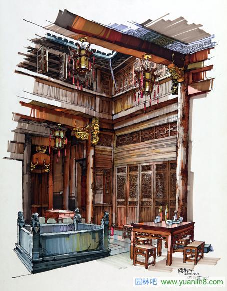 建筑手绘,汽车马克笔手绘素描及其写生作品(有安徽