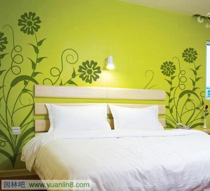 手绘墙,手绘卧室效果图
