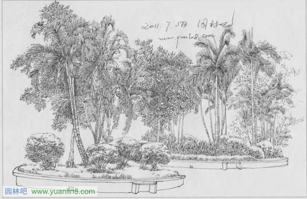 园林钢笔画手绘技法教程[4]
