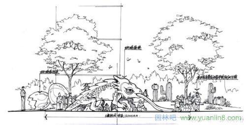 钢笔园林景观设计方案效果图