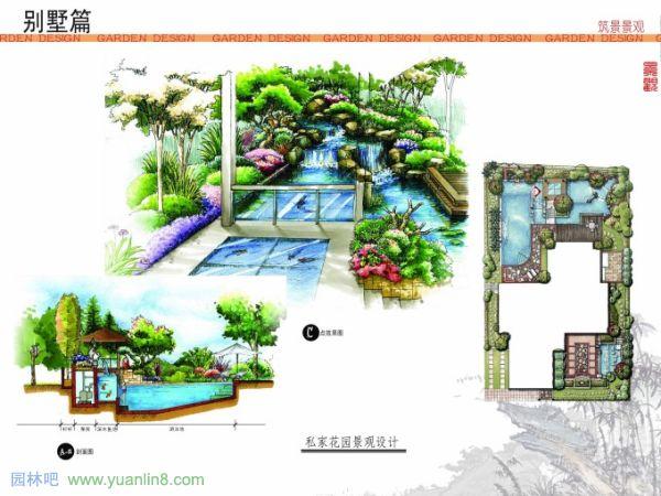 园林景观设计手绘效果图