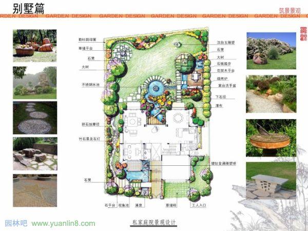 别墅庭院建筑平面设计图展示