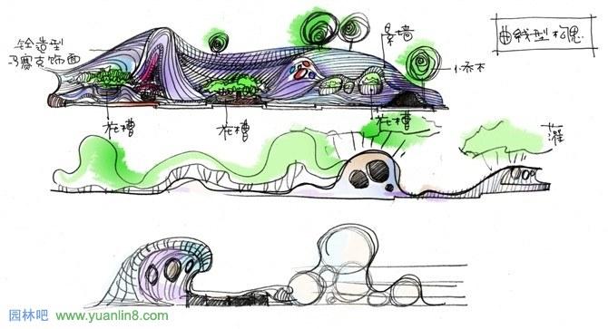 钢笔画欣赏 罗华老师手绘图集-方案手绘草图